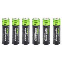 x6 AA Rechargeable Batteries (1300mAh)
